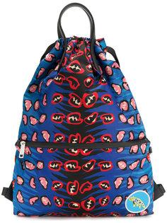 рюкзак с принтом и верхними ручками Fendi