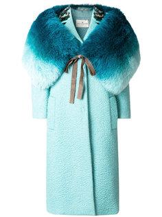 декорированное пальто с прорезями Anya Hindmarch