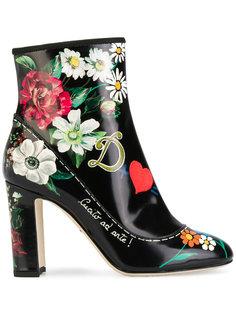 ботильоны с принтом Dolce & Gabbana
