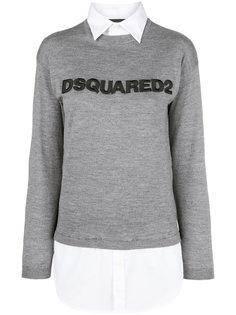 свитер с логотипом Dsquared2