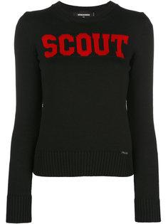 свитер с контрастной надписью Scout Dsquared2