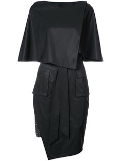 asymmetric fitted dress Thomas Wylde