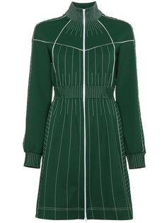 короткое платье на молнии с контрастной строчкой Valentino