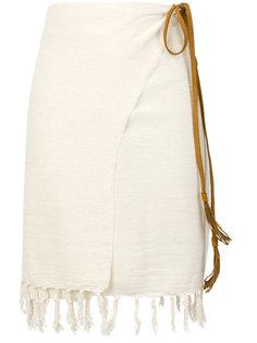 юбка с запахом с бахромой Caravana