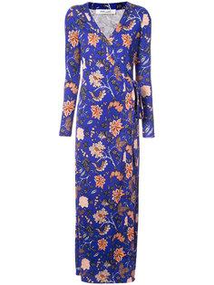 вечернее платье с запахом и цветочным принтом  Dvf Diane Von Furstenberg