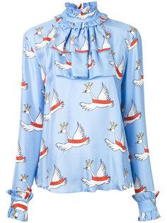 блузка с лебедями Macgraw