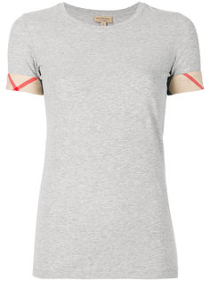 футболка с отделкой в клетку Burberry