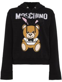 толстовка с капюшоном Playboy Moschino