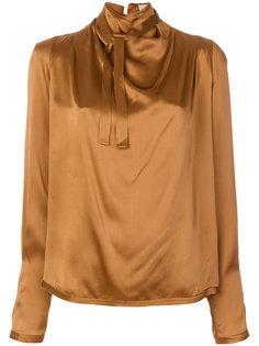 блузка с запахом на вороте  Maison Flaneur
