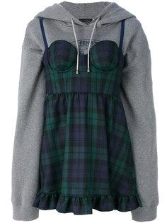 платье в клетку с капюшоном Fenty X Puma