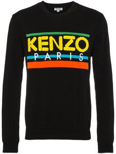 свитер с логотипом и круглым вырезом Kenzo