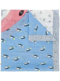 шарф с пингвинами Coach
