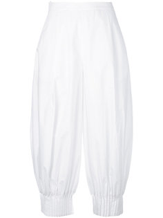 плиссированные укороченные брюки Delpozo