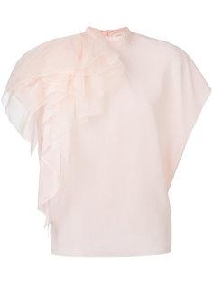 блузка с рюшей Delpozo