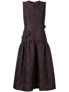 жаккардовое платье с цветочным узором  Le Ciel Bleu