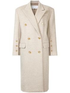 длинное двубортное пальто  Le Ciel Bleu