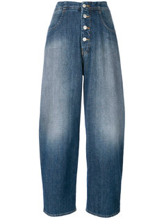 укороченные широкие джинсы  Mm6 Maison Margiela