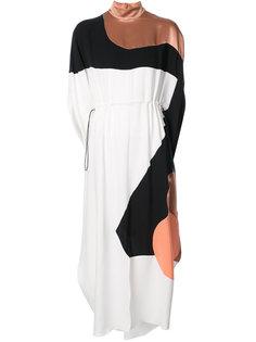 платье миди с графическим принтом  Roksanda