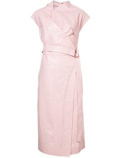 платье без рукавов с запахом Proenza Schouler