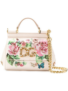 маленькая сумка Sicly с принтом роз Dolce & Gabbana