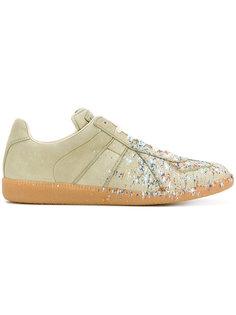 кроссовки Replica с эффектом красочных брызг Maison Margiela