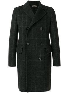 двубортное пальто в клетку Bottega Veneta