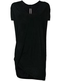 удлиненная асимметричная футболка  Rick Owens