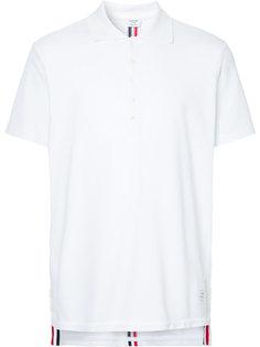 футболка из ткани пике с полосками на спине Thom Browne