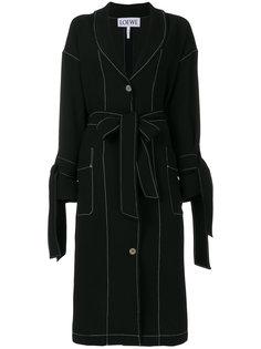 пальто с поясом Loewe