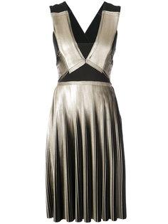 плиссированное платье металлик  Yigal Azrouel