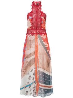 расклешенное платье с принтом  Yigal Azrouel