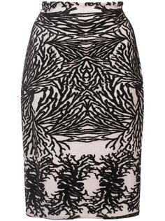 юбка-карандаш с выжженным эффектом  Yigal Azrouel