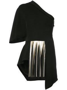 плиссированная блузка на одно плечо  Yigal Azrouel