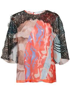 блузка с принтом Yigal Azrouel