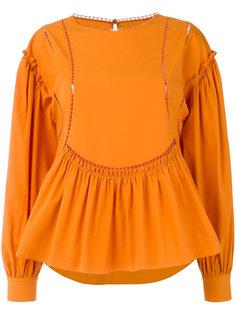 блузка с сетчатыми вставками Alberta Ferretti