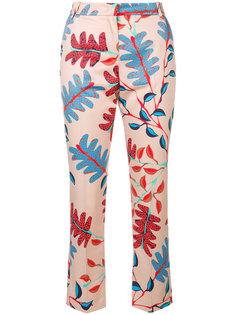 брюки кроя слим с цветочным принтом Marc Cain