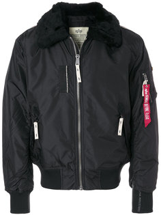 fur collar bomber jacket  Alpha Industries