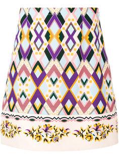 юбка прямого кроя с геометрическим узором Vivetta
