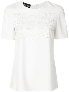 футболка с логотипом Boutique Moschino