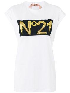 футболка с принтом логотипа Nº21