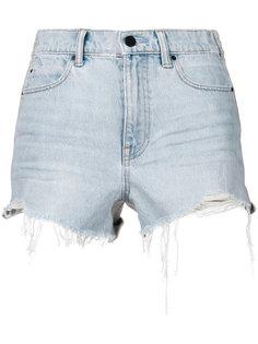 джинсовые шорты с бахромой Alexander Wang