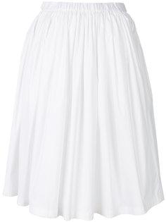расклешенная плиссированная юбка Prada