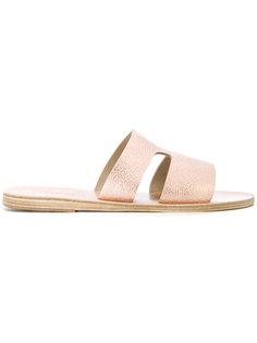 сандалии Apteros с эффектом металлик Ancient Greek Sandals