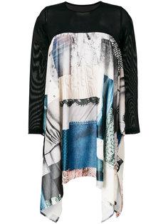 """асимметричное платье дизайна """"пэчворк"""" Mm6 Maison Margiela"""