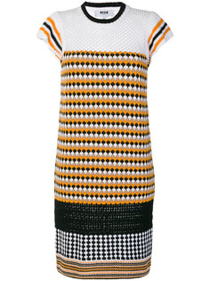 вязаное платье с рисунком MSGM