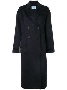двубортное пальто Prada