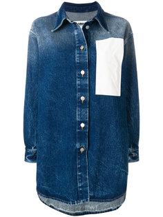 джинсовая куртка с заплаткой  Mm6 Maison Margiela