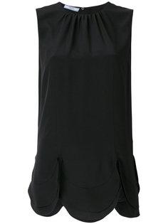 блузка с фестонным подолом Prada
