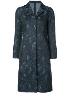 однобортное пальто с узором  Peter Cohen