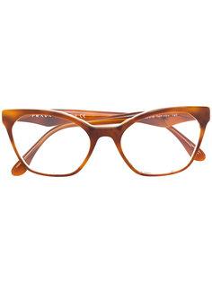 """ацетатные очки с оправой """"кошачий глаз"""" Prada Eyewear"""